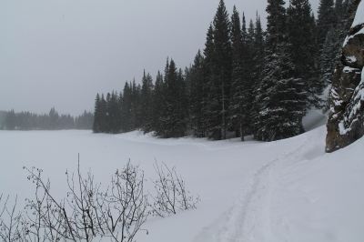 Snowshoeing around Bear Lake