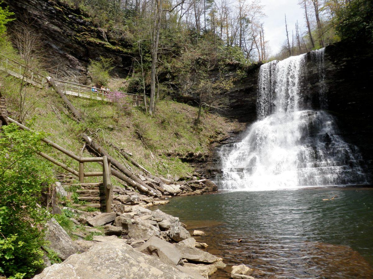 Cascades 66 Foot Waterfall Hike – Trail Map – Pembroke,VA