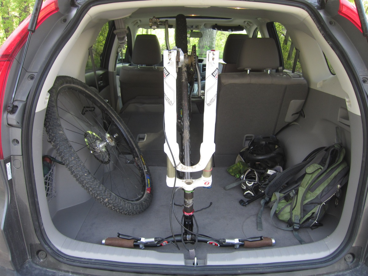 Honda Fit And Crv Mountain Bike Capacity Two Knobby Tires