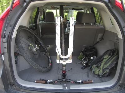 Honda Fit and CRV Mountain Bike Capacity | Two Knobby Tires