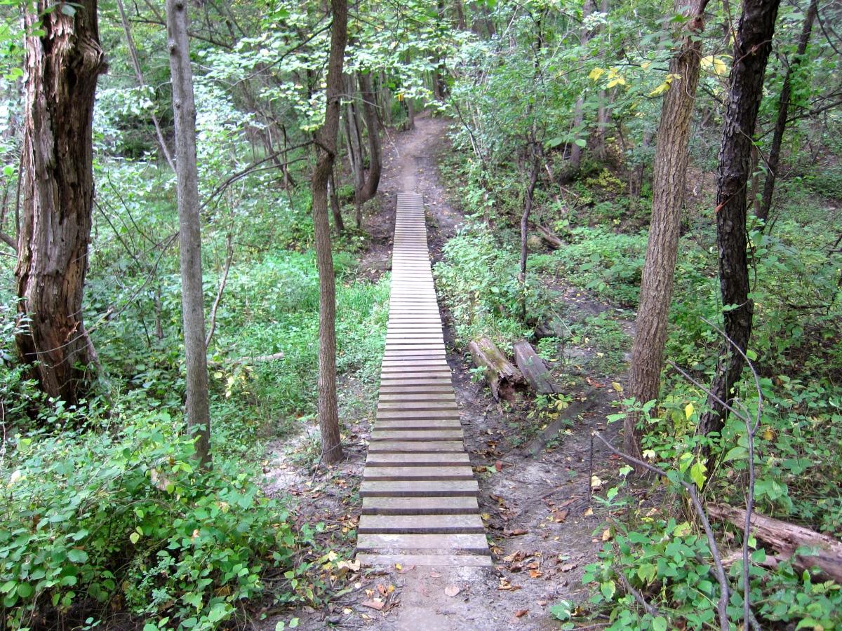 Beverly Park – Mountain Bike Trails w/Obstacles – Cedar Rapids,Iowa