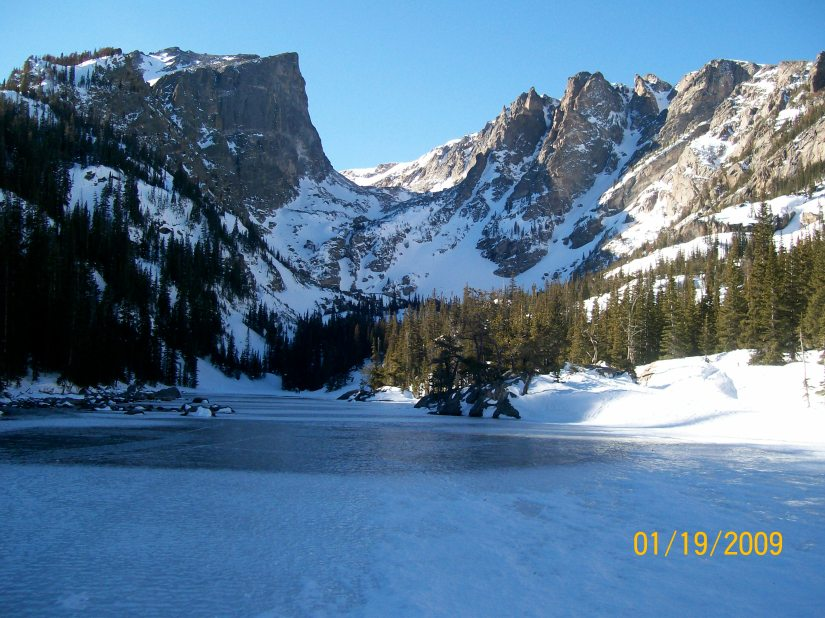 Snowshoeing to Nymph, Dream, & Emerald Lakes – Estes Park, CO