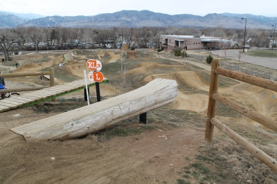 Jumps at Valmont Bike Park